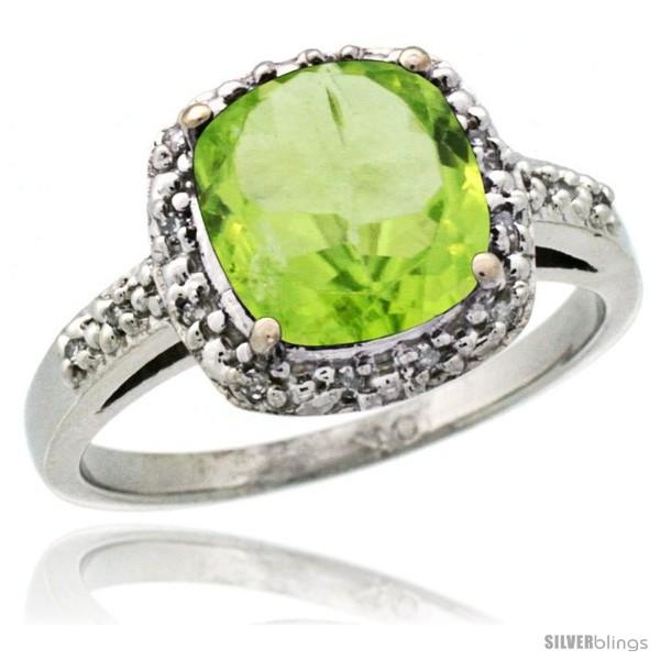 https://www.silverblings.com/15135-thickbox_default/14k-white-gold-diamond-peridot-ring-2-08-ct-cushion-cut-8-mm-stone-1-2-in-wide.jpg