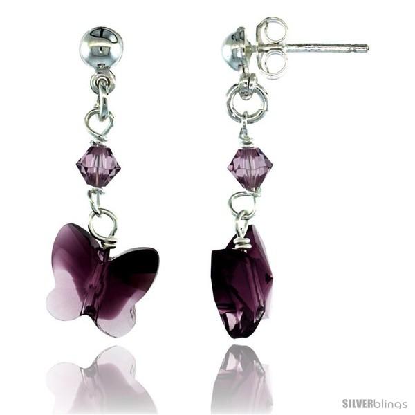 https://www.silverblings.com/15201-thickbox_default/sterling-silver-butterfly-amethyst-swarovski-crystals-dangle-earrings-1-1-8-in-29-mm-tall.jpg