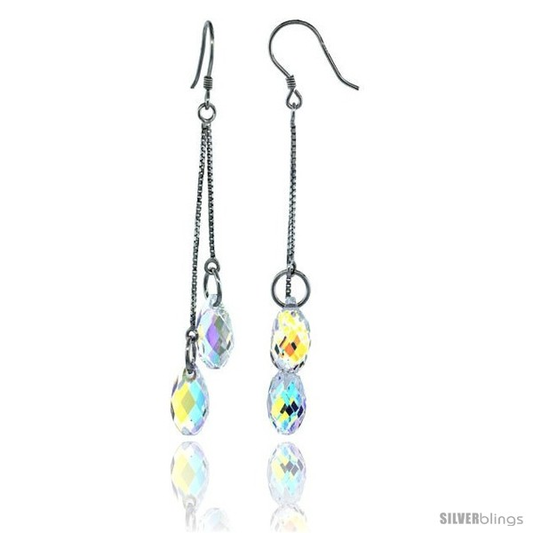 https://www.silverblings.com/15257-thickbox_default/sterling-silver-dangle-earrings-w-yellow-briolette-swarovski-crystal-2-1-4-in-58-mm-tall-rhodium-finish.jpg