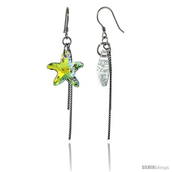 https://www.silverblings.com/15261-thickbox_default/sterling-silver-dangle-earrings-w-yellow-swarovski-crystal-starfish-2-1-4-in-58-mm-tall-rhodium-finish.jpg