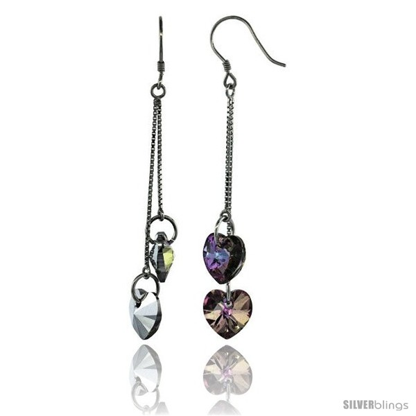https://www.silverblings.com/15279-thickbox_default/sterling-silver-dangle-earrings-w-purple-swarovski-crystal-double-heart-2-1-2-in-64-mm-tall-rhodium-finish.jpg