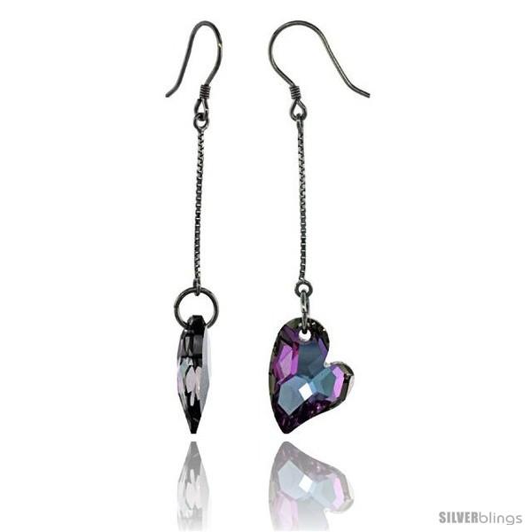 https://www.silverblings.com/15291-thickbox_default/sterling-silver-dangle-earrings-w-purple-swarovski-crystal-fancy-heart-2-5-16-in-59-mm-tall-rhodium-finish.jpg