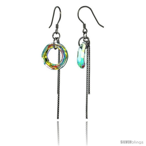 https://www.silverblings.com/15305-thickbox_default/sterling-silver-dangle-earrings-w-yellow-swarovski-crystal-doughnut-2-1-4-in-58-mm-tall-rhodium-finish.jpg