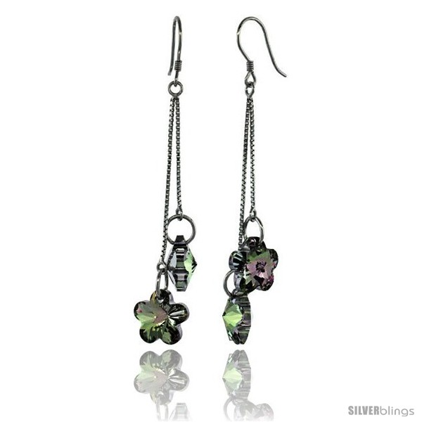https://www.silverblings.com/15307-thickbox_default/sterling-silver-dangle-earrings-w-purple-swarovski-crystal-double-flower-2-5-8-in-62-mm-tall-rhodium-finish.jpg