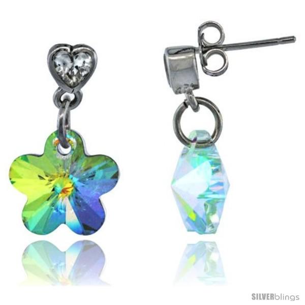 https://www.silverblings.com/15313-thickbox_default/sterling-silver-dangle-earrings-w-yellow-swarovski-crystal-flower-13-16-in-21-mm-tall-rhodium-finish.jpg