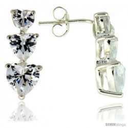 Sterling Silver / Cubic Zirconia Drop Earrings