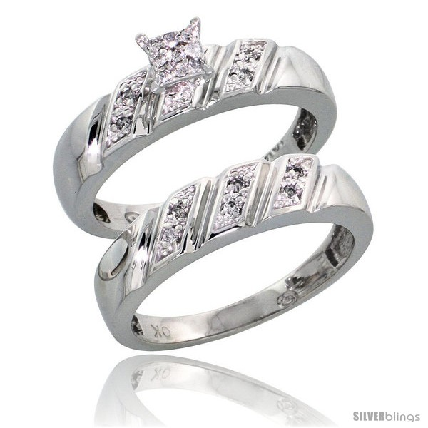 https://www.silverblings.com/15391-thickbox_default/10k-white-gold-diamond-engagement-rings-set-2-piece-0-10-cttw-brilliant-cut-3-16-in-wide-style-10w016e2.jpg