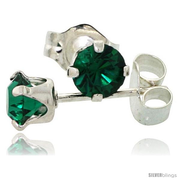 0e40a7070 May Birthstone Emerald-Colored 4mm (0.25 Carat Each) Swarovski ...
