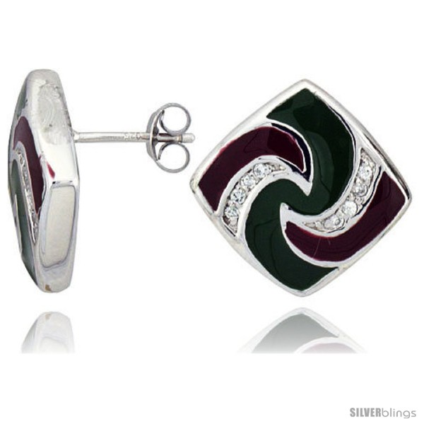 https://www.silverblings.com/15555-thickbox_default/sterling-silver-3-4-19-mm-tall-post-earrings-rhodium-plated-w-cz-stones-green-red-enamel-designs.jpg