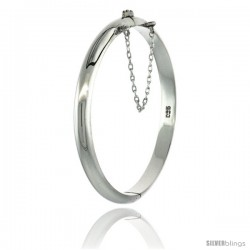 Sterling Silver Children's Bangle Bracelet High Polished 3/16 in wide