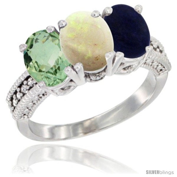 https://www.silverblings.com/15720-thickbox_default/14k-white-gold-natural-green-amethyst-opal-lapis-ring-3-stone-7x5-mm-oval-diamond-accent.jpg