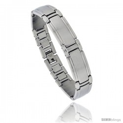 Solid Stainless Steel Link Bracelet, 8 in long -Style Bss7