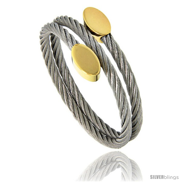 https://www.silverblings.com/1584-thickbox_default/stainless-steel-cable-golf-bracelet-oval-gold-tone-ends-7-in.jpg