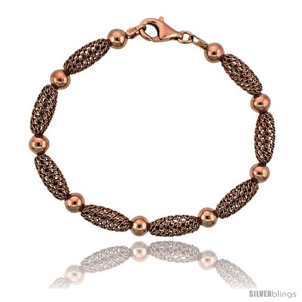 https://www.silverblings.com/15874-thickbox_default/sterling-silver-oval-filigree-bead-bracelet-rose-gold-finish-7-in.jpg