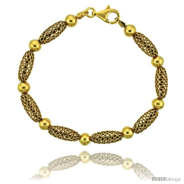 https://www.silverblings.com/15876-thickbox_default/sterling-silver-oval-filigree-bead-bracelet-gold-finish-7-in.jpg