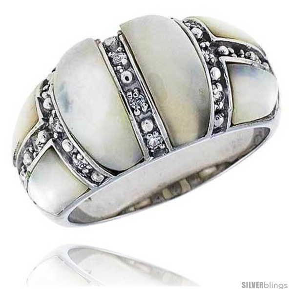 https://www.silverblings.com/15956-thickbox_default/mother-of-pearl-dome-band-in-solid-sterling-silver-accented-tiny-high-quality-czs-1-2-12-mm-wide.jpg