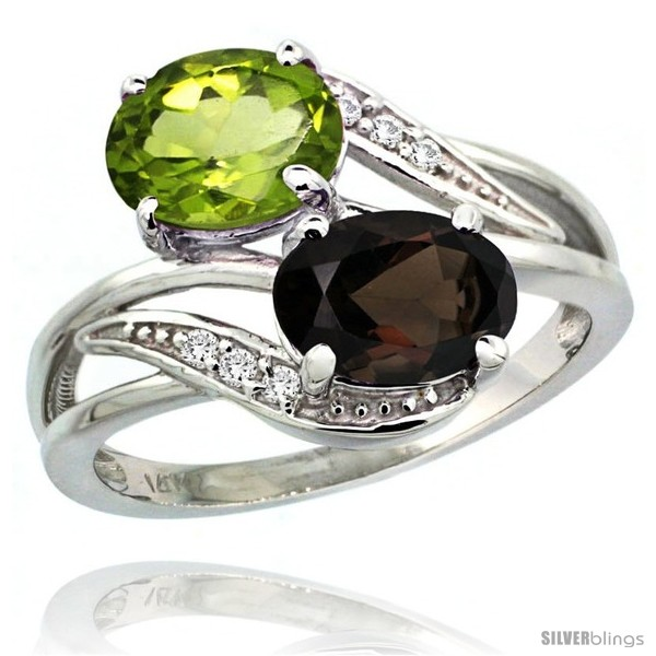 https://www.silverblings.com/1604-thickbox_default/14k-white-gold-8x6-mm-double-stone-engagement-smoky-topaz-peridot-ring-w-0-07-carat-brilliant-cut-diamonds-2-34-carats.jpg