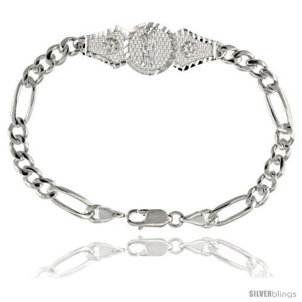 https://www.silverblings.com/16050-thickbox_default/sterling-silver-santa-muerte-figaro-link-bracelet-1-2-in-wide-7-in-long.jpg