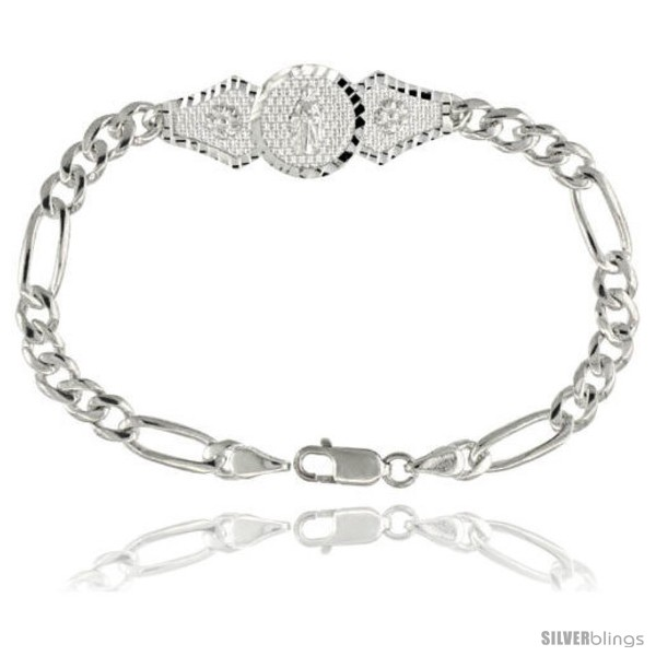 https://www.silverblings.com/16066-thickbox_default/sterling-silver-st-jude-figaro-link-bracelet-1-2-in-wide-7-in-long.jpg