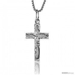 Sterling Silver Cross Pendant, 7/8 in