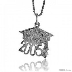 Sterling Silver Graduation Pendant, 1/2 in Tall
