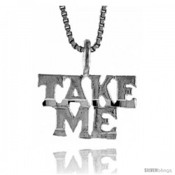Sterling Silver Take Me Talking Pendant, 3/8 in Tall