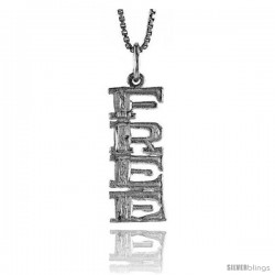 Sterling Silver FREE Talking Pendant, 7/8 in Tall