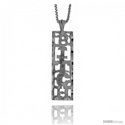 Sterling Silver BITCH Talking Pendant, 1 1/4 in Tall
