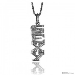 Sterling Silver SEXY Talking Pendant, 7/8 in Tall -Style 4p1011