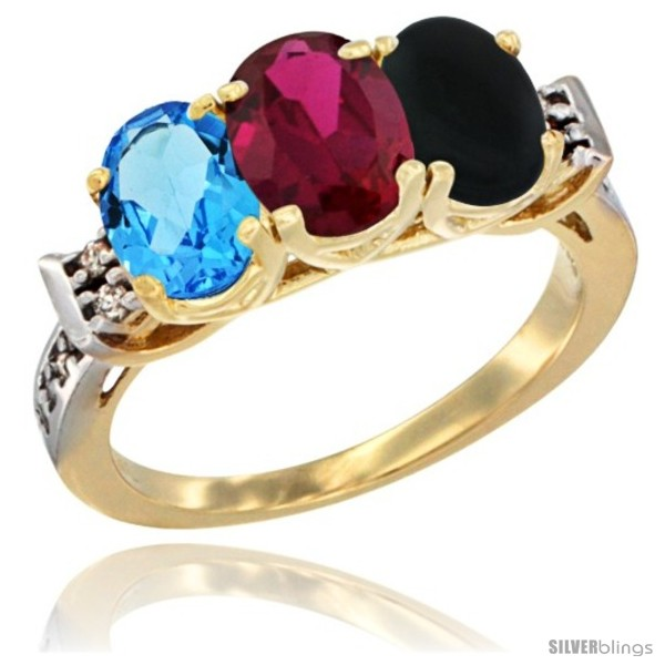 https://www.silverblings.com/16119-thickbox_default/10k-yellow-gold-natural-swiss-blue-topaz-ruby-black-onyx-ring-3-stone-oval-7x5-mm-diamond-accent.jpg