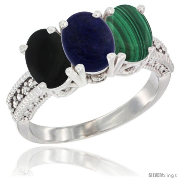 https://www.silverblings.com/16173-thickbox_default/10k-white-gold-natural-black-onyx-lapis-malachite-ring-3-stone-oval-7x5-mm-diamond-accent.jpg