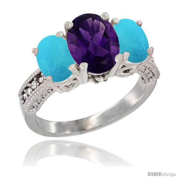 https://www.silverblings.com/16186-thickbox_default/10k-white-gold-ladies-natural-amethyst-oval-3-stone-ring-turquoise-sides-diamond-accent.jpg