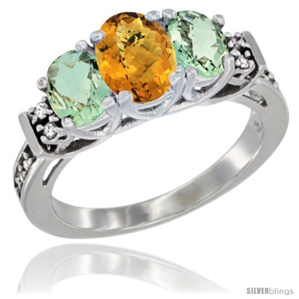 https://www.silverblings.com/16205-thickbox_default/14k-white-gold-natural-whisky-quartz-green-amethyst-ring-3-stone-oval-diamond-accent.jpg
