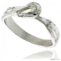 Sterling Silver Freeform Ring Polished finish 1/4 in wide