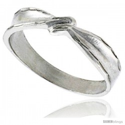 Sterling Silver Freeform Ring Polished finish 3/16 in wide -Style Ffr404