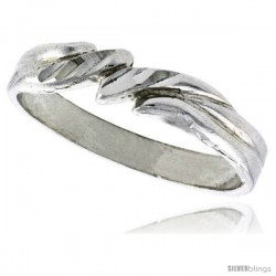 Sterling Silver Freeform Ring Polished finish 3/16 in wide -Style Ffr406