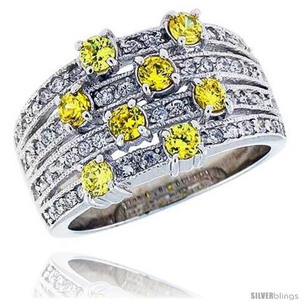 https://www.silverblings.com/16377-thickbox_default/sterling-silver-rhodium-plated-band-w-3mm-high-quality-citrine-czs-1-2-13-mm-wide.jpg