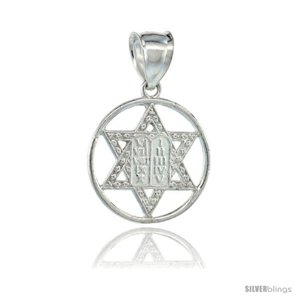 https://www.silverblings.com/16505-thickbox_default/sterling-silver-star-of-david-pendant-circle-centered-10-commandments-tablet-26mm-1-1-16-in-wide.jpg