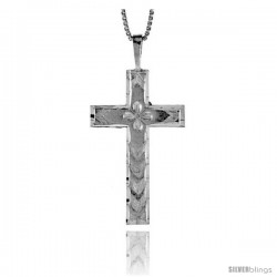 Sterling Silver Cross Pendant, 1 3/8 in