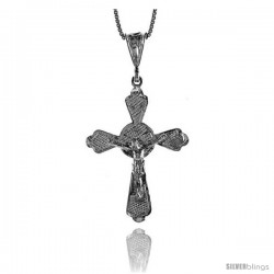 Sterling Silver Large Crucifix Pendant, 1 1/4 in
