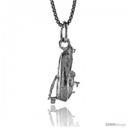 Sterling Silver Speedboat Pendant, 3/4 in