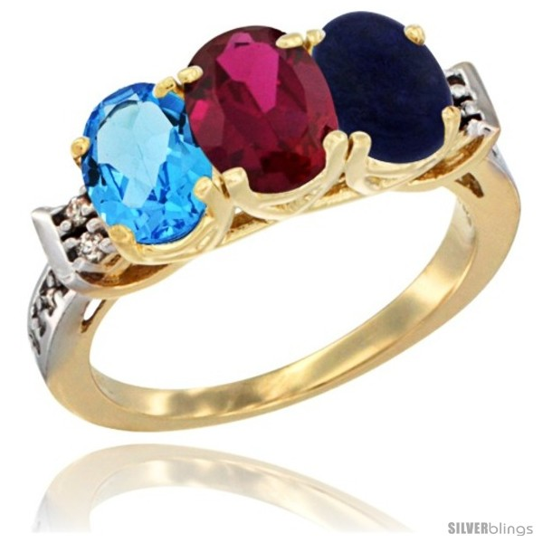 https://www.silverblings.com/16633-thickbox_default/10k-yellow-gold-natural-swiss-blue-topaz-ruby-lapis-ring-3-stone-oval-7x5-mm-diamond-accent.jpg