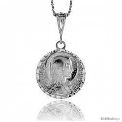 Sterling Silver Mother Mary Medal, 1 in