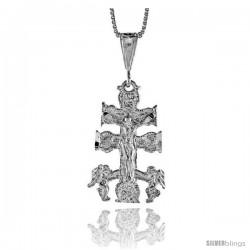 Sterling Silver Carabaca Cross Pendant, 1 1/4 in