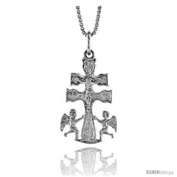 Sterling Silver Carabaca Cross Pendant, 1 in