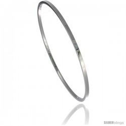 Stainless Steel 2 mm Flat Slip on Bangle Bracelet Seamless Stackable