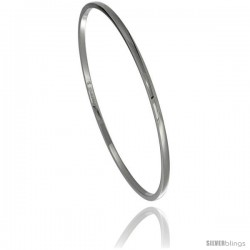 Stainless Steel 2 mm Dome Slip on Bangle Bracelet Seamless Stackable