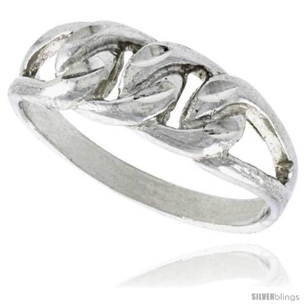 https://www.silverblings.com/16748-thickbox_default/sterling-silver-small-curb-link-chain-ring-polished-finish-finish-1-4-in-wide.jpg