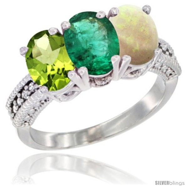 https://www.silverblings.com/16776-thickbox_default/14k-white-gold-natural-peridot-emerald-opal-ring-3-stone-oval-7x5-mm-diamond-accent.jpg