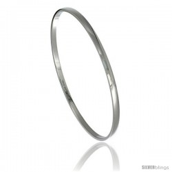 Stainless Steel 3 mm Dome Slip on Bangle Bracelet Seamless Stackable